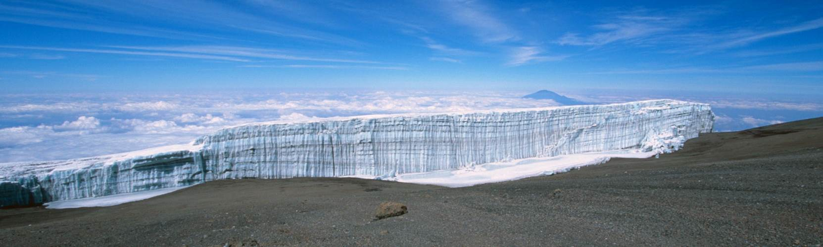 Mount Kilimanjaro - summit glacier