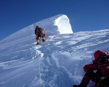 nepal everest final section of summit ridge cornice.jpg?mode=crop&width=374&height=300&center=0.276666666666667,0 - How To Get In Shape To Climb Mount Everest