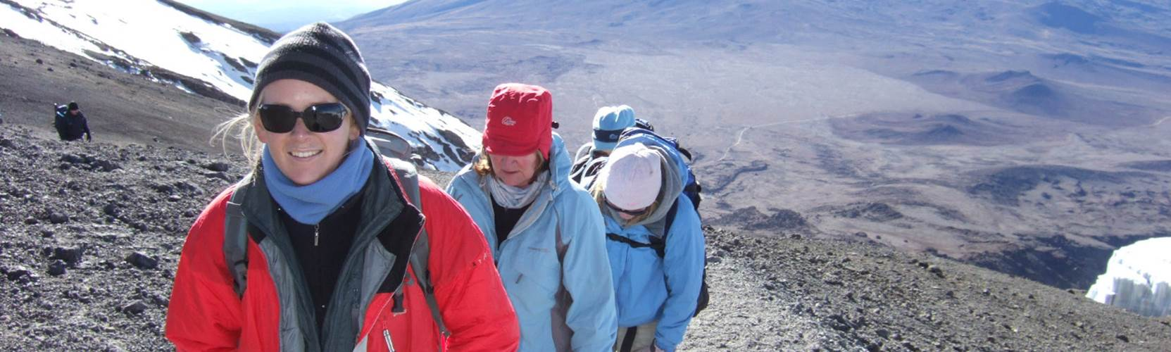 Mount Kilimanjaro - approaching the summit