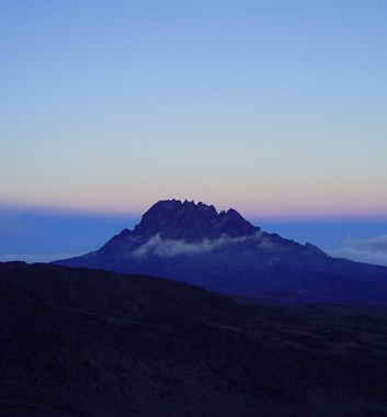 Kilimanjaro's second peak Mwenzi