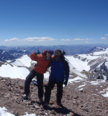 Climbs in the Andes, on Mount Aconcagua
