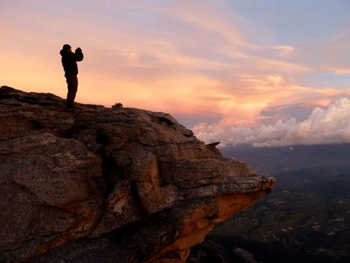Mount Kinabalu_Kotal Route sunset silhouette with figure.jpg