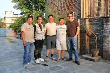 Adventure Alternative staff in Nepal