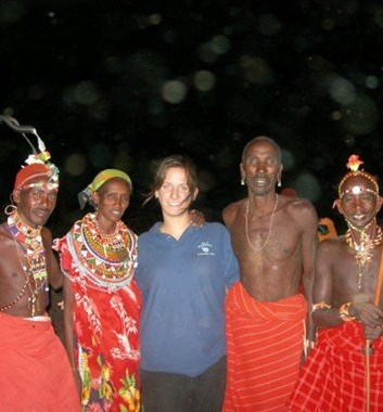 School expedition in Tanzania with local people