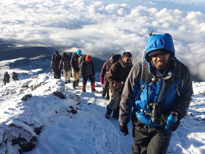 Trekking high above the clouds on Kilimanjaro