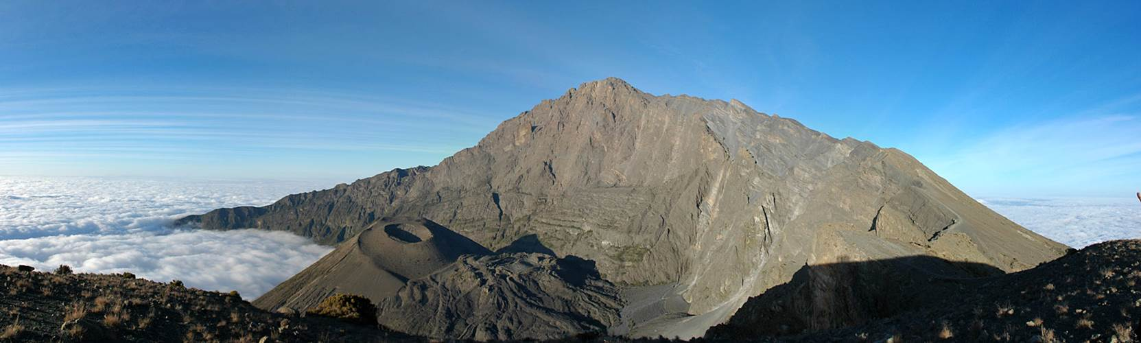 Mount Meru summit massif