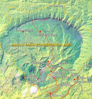 maliau basin map