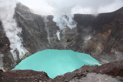 Crater Lake of Gorely Volcano