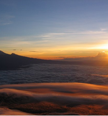 Mount Meru sunrise