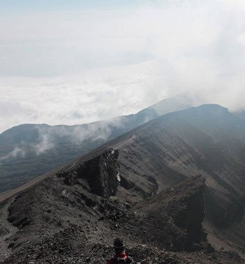Mount Meru summit ridge