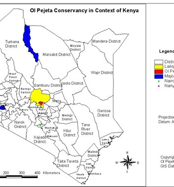 Ol Pejeta Location Map - Kenya