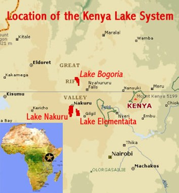 Great Lakes Location Map - Kenya