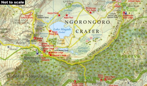 ngorongoro crater map