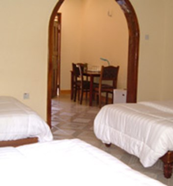 Rooms in the Twiga lodge
