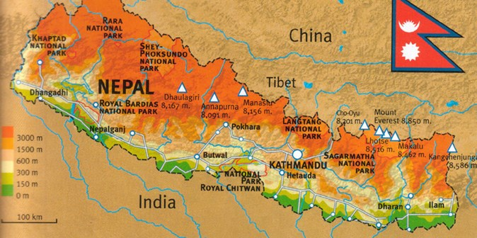 World Map Napal.About Nepal Travel Advice From Adventure Alternative