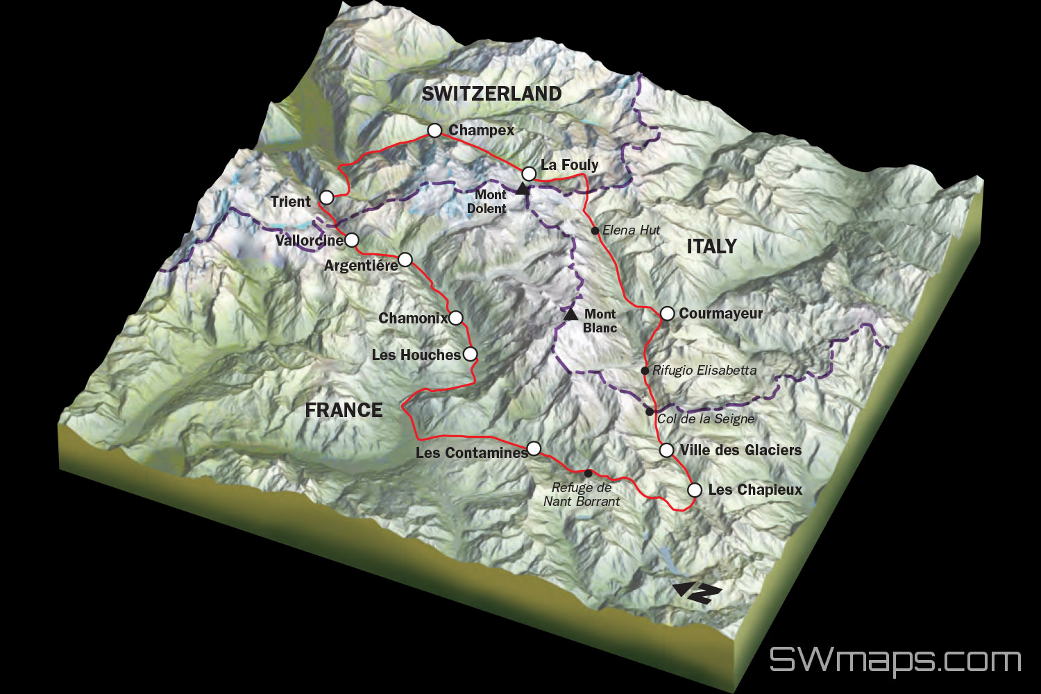 Google Maps Tour Mont Blanc