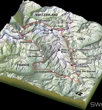 Tour de Mont Blanc map