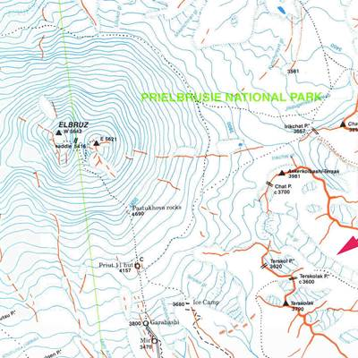 Further Reading Books Maps For Elbrus - Mt elbrus map