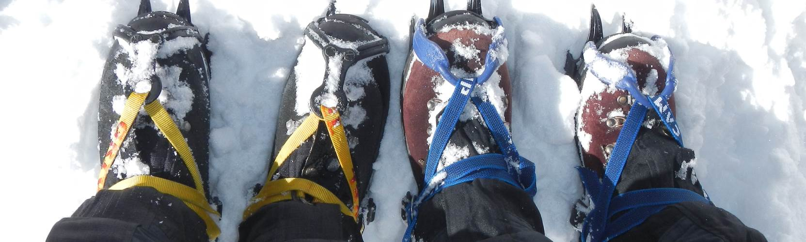 mountain boots and crampons