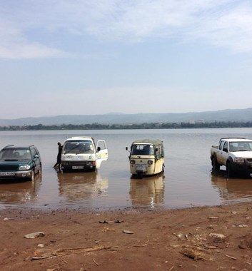 Kenya Medical Camp - Car wash in Lake Victoria