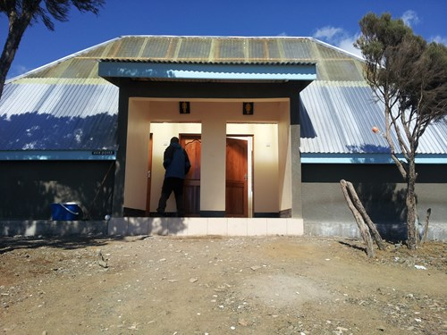 new toilets on Kilimanjaro