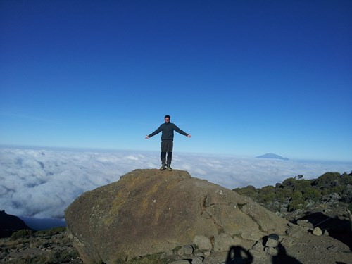 High above the clouds on Kilimanjaro