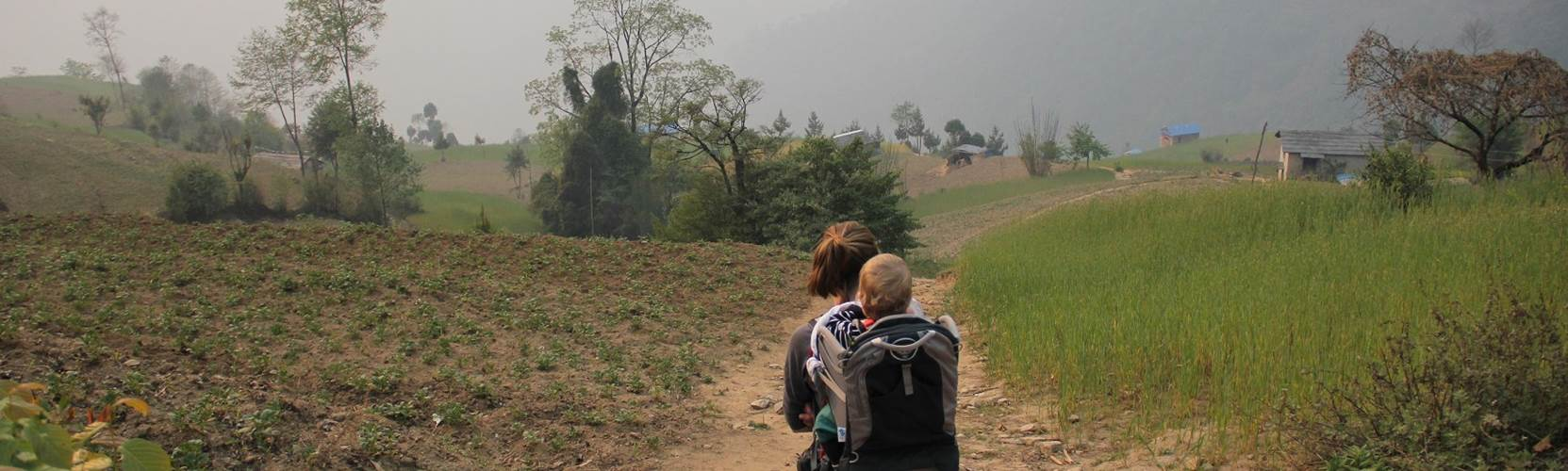Babies on trek in Nepal
