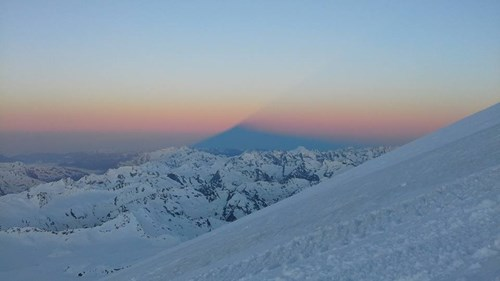 Mount Elbrus shadow