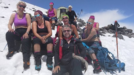 Sasha Lebedev with one of our groups on Elbrus.jpg