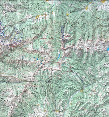 Winter Tour of the Rila Mountains - Map