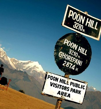 Poon Hill - Sign