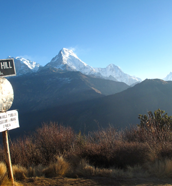 Poon Hill - Sign at Poon Hill (3,210m)