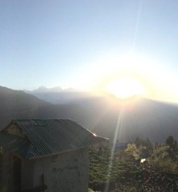 sunrise lower khumbu