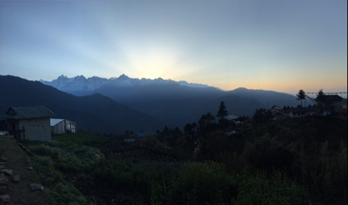 Sunrise in the foothills of the Himalayas