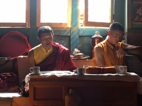 Monks in the Himalayan Monastery