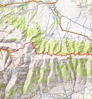 Los Tres Miles route in the Sierra Nevada