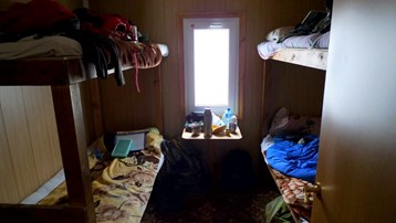 Inside hut on Mount Elbrus at 3900 metres.jpg