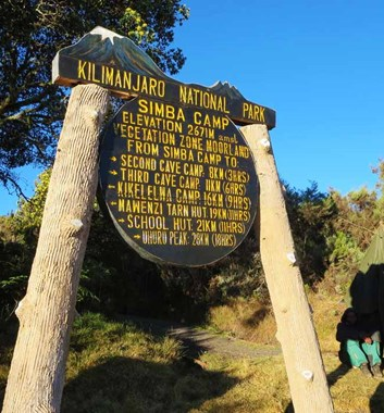 Simba Camp is at 2670 metres and is the first camp reached on the Rongai route trek up Kilimanjaro.