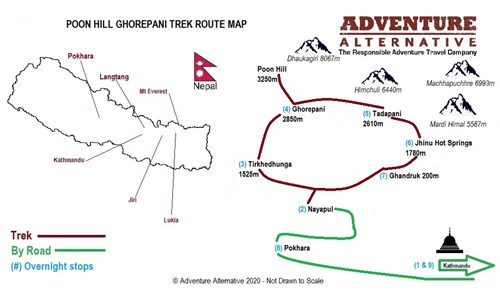 Poon Hill Ghorepani Trek Route Map